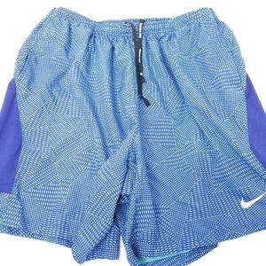 Nike XXL 2XL Running Shorts Blue Mens Freedom
